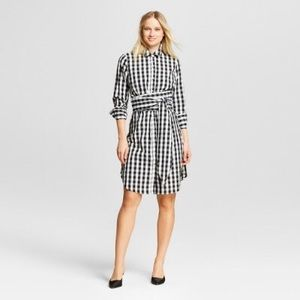 Dresses & Skirts - Long Gingham Shirt Dress